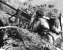 The Browning machine gun in use in Korea.